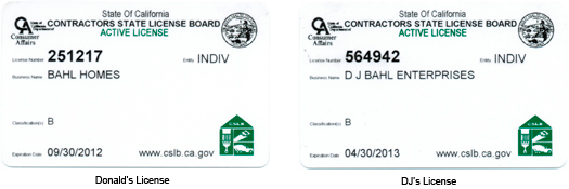 Contracting Licenses